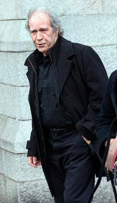 Finbar Furey at the funeral of former Pogues manager Frank Murray in St Paul's Church, Mount Argus. Photo: Tony Gavin