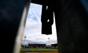 Closed for business: Shamrock Rovers' home ground of Tallaght Stadium lies empty. Photo: Stephen McCarthy/Sportsfile