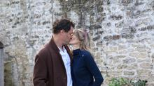 Dominic West pictured with his wife CatherineFitzGerald. The married couple put on a show of unity as they addressed the mediaafter pictures emerged of West kissing Lily James. PIC credit: Splash