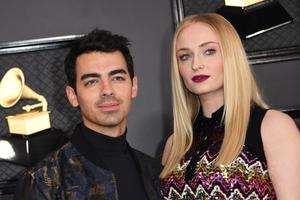 British actress Sophie Turner and her husband US singer Joe Jonas. (Photo by VALERIE MACON/AFP via Getty Images)