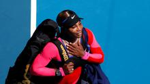 Serena Williams leaves the court after losing her semi final match against Japan's Naomi Osaka