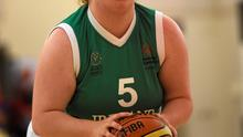 Team Irelands Laura Reynolds, a member of Blue Dolphins Special Olympics Club, from Kilbride, Co Wicklow, takes a shot during the BB Basketball Team Division F.02 Final. Photo: Ray McManus / Sportsfile