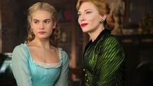 Lily James with Cate Blanchett in Cinderella