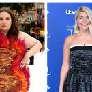 Lena Dunham and Holly Willoughby (Isabel Infantes/Ian West/PA)