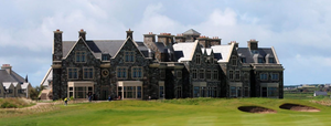 The hotel beside the links at Doonbeg. Photo: PA