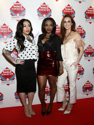 (Left - right) Mutya Buena, Keisha Buchanan and Siobhan Donaghy of MKS arriving for the 2014 NME Awards, at Brixton Academy, London. PRESS ASSOCIATION Photo. Picture date: Wednesday February 26, 2014. Photo credit should read: Yui Mok/PA Wire
