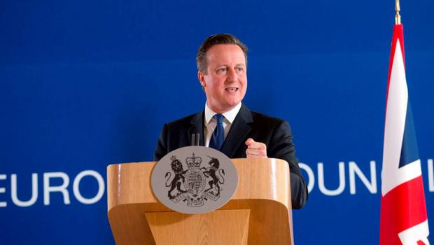 British Prime Minister David Cameron speaks during a final media conference after the EU summit in Brussels. Photo: AP