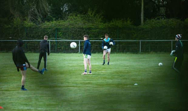 Dublin GAA players at secret training session