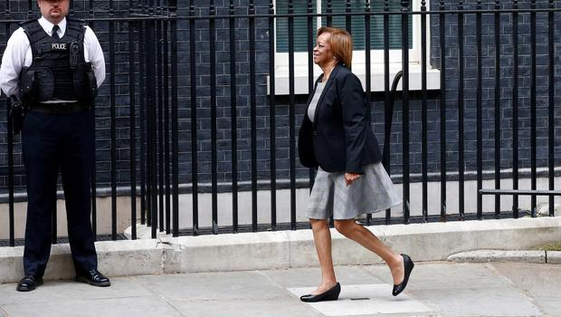 Marian Robinson, mother of US First Lady Michelle Obama, arrives in Downing Street for her daughter's meeting with British Prime Minister David Cameron and his wife Samantha, in London on June 16, 2015. AFP PHOTO / JUSTIN TALLISJUSTIN TALLIS/AFP/Getty Images