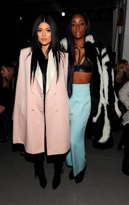 Kylie Jenner (L) attends the 3.1 Phillip Lim fashion show at Skylight Clarkson SQ.