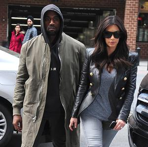 Kanye West and Kim Kardashian are seen in Tribeca on March 25, 2014 in New York City.  (Photo by Alo Ceballos/GC Images)