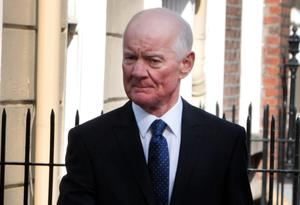 Former Financial Regulator Patrick Neary arrives for the Banking Inquiry hearing