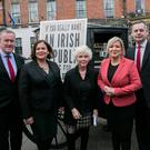Campaign: Mary Lou McDonald at Sinn Féin's candidate launch in Dublin. Photo: Gareth Chaney, Collins