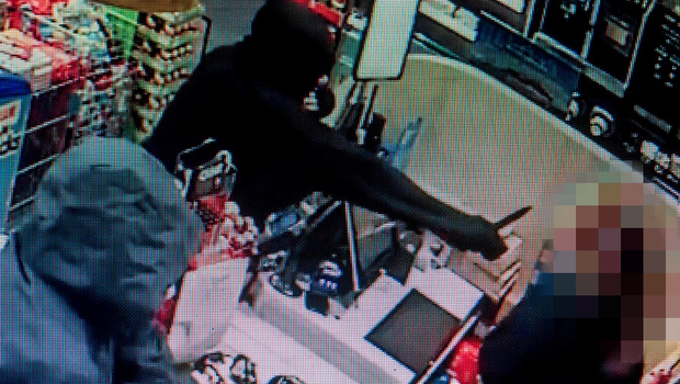 The shop assistant at the Centra store had a knife pointed at her face during the armed raid