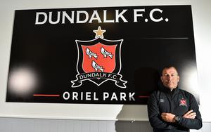 Newly appointed assistant manager Alan Reynolds poses for a portrait ahead of a Dundalk training session at Oriel Park in Dundalk, Louth. Ben McShane/Sportsfile