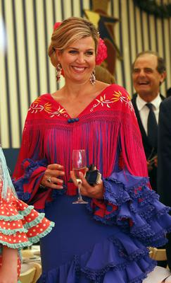 King Willem-Alexander and Queen Maxima of the Netherland attend `Feria de Sevilla´ in Spain with their three children on May 10, 2019 in Seville, Spain. (Photo by Europa Press Entertainment/Europa Press via Getty Images)