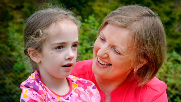 Vera Twomey and her daughter Ava (7), who has been taking cannabis oil Photo: David Conachy