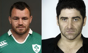 Cian Healy (left) and Brian Kennedy (right).