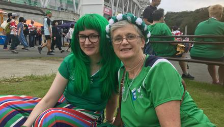Niamh and Nora Lalor from south Dublin