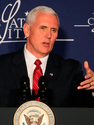 The decision to honour Mr Pence was announced unilaterally by The Ireland Funds in early February, before the ink had dried on the Muslim travel ban. Photo by Mark Wilson/Getty Images