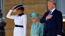 Donald and Melania Trump met the Queen and other senior members of the Royal Family during the state visit to the UK (Toby Melville/PA)