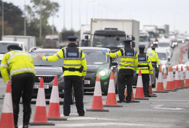 Gardai will be carrying out more checkpoint during lockdown and fines may be imposed