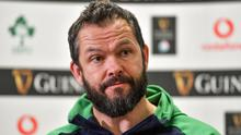 Andy Farrell says there is room in the schedule for Ireland to play their remaining two Six Nations games in October. Photo by Brendan Moran/Sportsfile