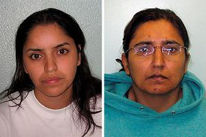 Polly Chowdhury (left), 35, and her lesbian lover Kiki Muddar, who were found guilty of killing eight-year-old Ayesha Ali after getting caught up in a twisted romance revolving around fictional Facebook characters. Photo: Metropolitan Police/PA Wire