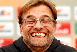 Liverpool manager Jurgen Klopp at yesterday's press conference. Photo: Lee Smith/Reuters