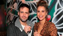 Vogue Williams and Spencer Matthews in R.I.O.T in Aston Quay Dublin last night. Photo: Brian McEvoy
