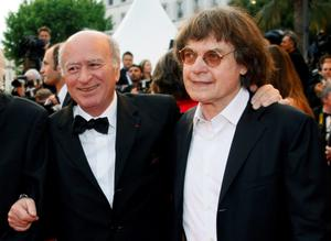 French caricaturists Georges Wolinski (left) and Cabu arrive for a film screening at the 61st Cannes Film Festival in 2008. Reuters/Jean-Paul Pelissier/Files
