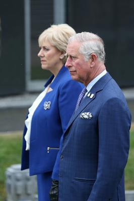Prince Charles and Minister Heather Humphreys in Glasnevin Cemetery