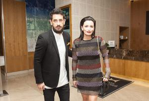 Paul Galvin and Louise Duffy, during the ninth annual Bord Gais Energy Irish Book Awards 2014 at the The Double Tree by Hilton Hotel, Dublin