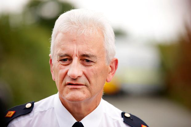 Supt Noel Carolan, Balbriggan Garda station, at the scene near Ballyboughal in north Co. Dublin where the remains of a man were discovered in a ditch at the side of the road. Picture; Gerry Mooney