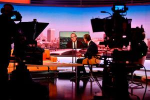 On 'The Andrew Marr Show' on BBC1, Mr Coveney outlined in notably strong tones that the Irish and EU position is not for turning. Photo: Jeff Overs/BBC/PA
