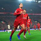Virgil van Dijk opened the scoring after 13 minutes after heading home from a corner. Photo: Michael Regan/Getty Images