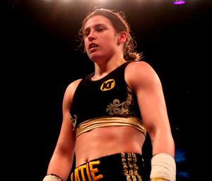 The 2012 Olympic gold medallist methodically wore down 39-year-old Italian Monica Gentili before dropping her following a barrage of left hooks 90 seconds into the fifth round of their scheduled six-rounder at London's O2 Arena. Photo: Nick Potts/PA Wire