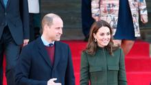 The Duke and Duchess of Cambridge leave after a visit to City Hall in Bradford to join a group of young people from across the community to hear about life in the city
