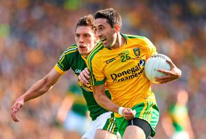 Donegal's Rory Kavanagh gets away from David Moran of Kerry during the All-Ireland football final. Photo: Stephen McCarthy / SPORTSFILE