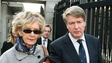 Brian O'Donnell and his wife Mary Patricia leave the Court of Appeal in Dublin during a previous appearance