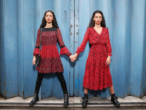 Models Cadhla and Sadbh were on hand to help launch the Arnotts autumn-winter 2019 season collection, which aims to show exciting newness across a diverse mix of trends. Photo: Leon Farrell