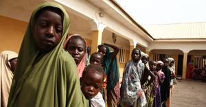 Mass abduction: girls rescued by Nigerian soldiers from Islamist militants Boko Haram in 2015