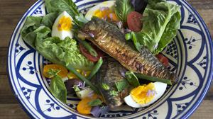 Mackerel Nicoise. Photo: Tony Gavin