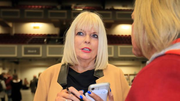 Mary Mitchell O Connor pictured at the  2020 General Election count in the RDS.Picture Credit:Frank McGrath 9/2/20