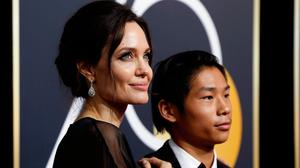 Angelina Jolie at the 75thGolden Globe Awards. Picture: REUTERS/Mario Anzuoni
