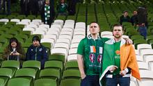 Republic of Ireland supporters following the FIFA 2018 World Cup Qualifier Play-off 2nd leg match between Republic of Ireland and Denmark at Aviva Stadium in Dublin. (Photo By Stephen McCarthy/Sportsfile via Getty Images)