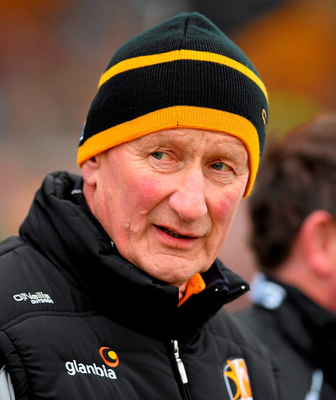 Micheál Donoghue will become the seventh Galway manager to test himself against Cody in tomorrow's Leinster final. Photo: Stephen McCarthy/Sportsfile