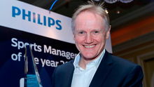 Philips Lighting Ireland named Joe Schmidt, Irish rugby head coach, as winner of the Philips Lighting Sports Manager of the Year for 2018