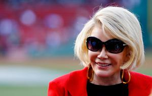 BOSTON, MA - JULY 19: Actress Joan Rivers takes a tour of Fenway Park prior to the game between the Boston Red Sox and the Chicago White Sox on July 19, 2012 at Fenway Park in Boston, Massachusetts.  (Photo by Jared Wickerham/Getty Images)