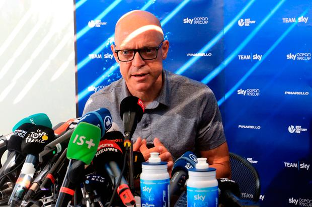 Team Sky's Dave Brailsford during a press conference